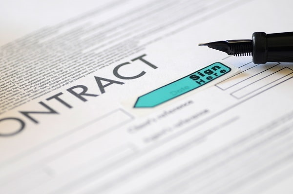 legal contract for risk transfer