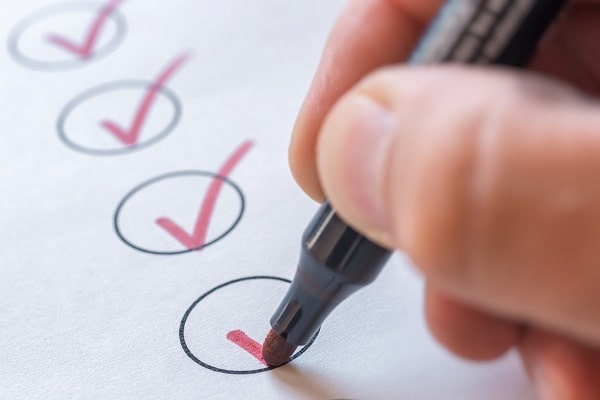 insurance agent checklist