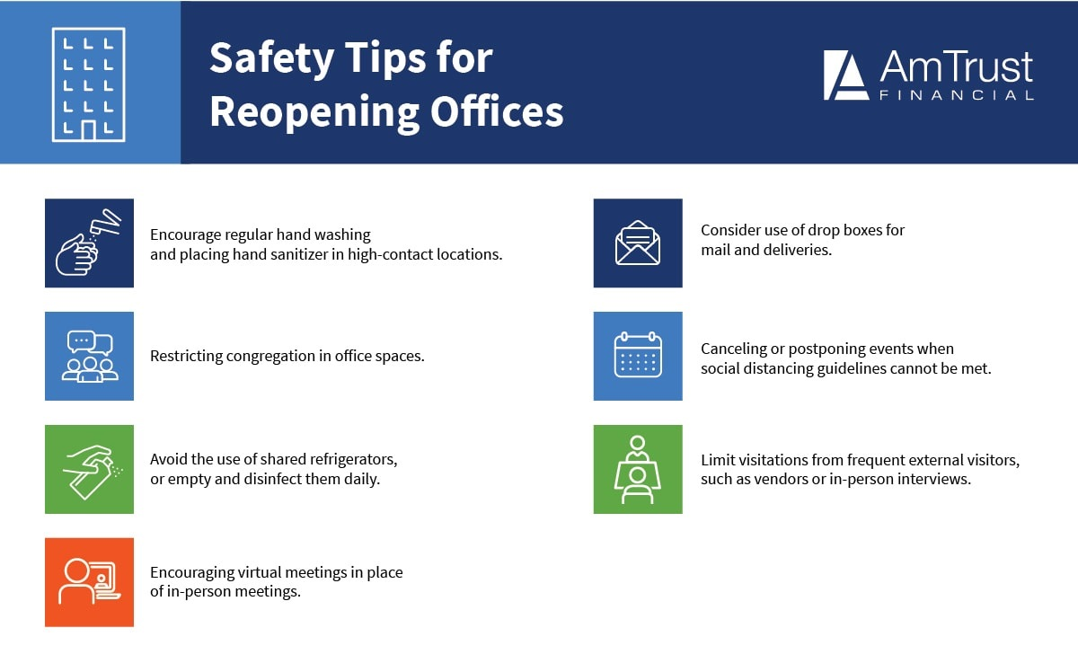reopening offices safety tips infographic