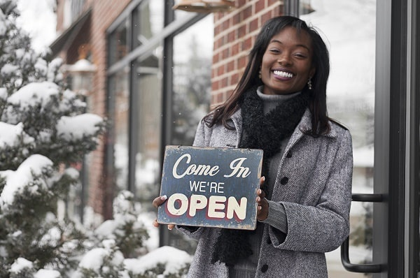 small business owner winter