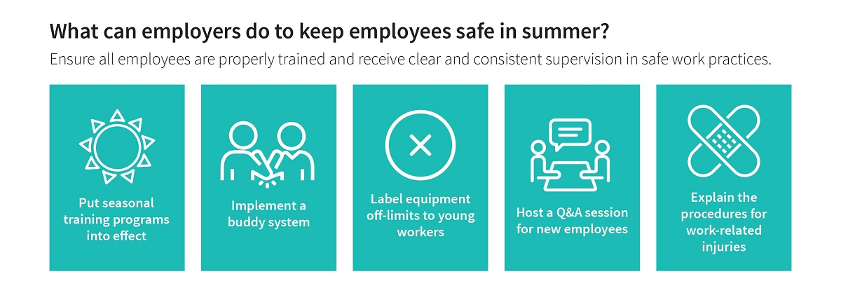 preventing worker injuries in summer